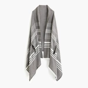 J. Crew Striped Cape Scarf | Charcoal
